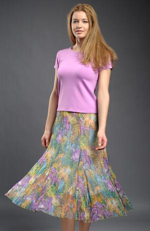 Šifónová krešovaná sukně