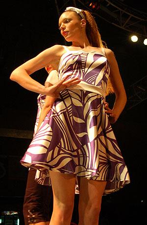 Módní přehlídka nové kolekce společenských a letních šatů Verino pro sezonu jaro - léto 2008.