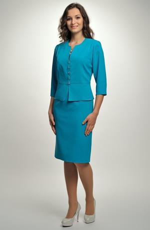 Lehký kabátek s 3/4 rukávem na letní šaty