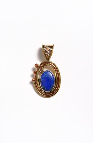 Přívěšek na řetízek s přírodním kamenem - opál