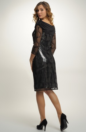 Malé černo stříbrné šaty - koktejlky