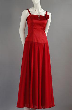 Červené korzetové šaty se zadním šněrováním a bohatou kolovou sukní