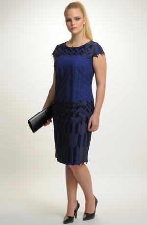 Dámské večerní a koktejlové šaty z luxusní tkaniny vhodné pro větší velikosti