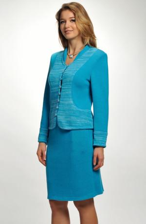 Elegantní dámský pletený kabátek vhodný i jako společenský