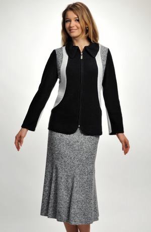 Dámský kabátek z pleteniny