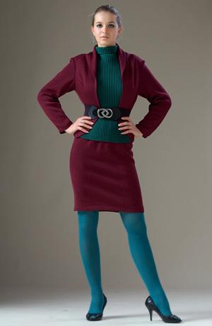 Pletené bolerko s krátkou sukní