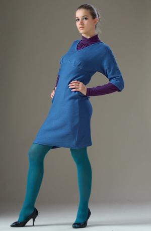 Pletené tunikové šaty.