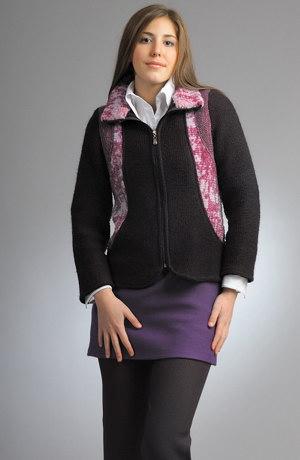 Silný pletený kabátek na zip se zajímavým střihem.
