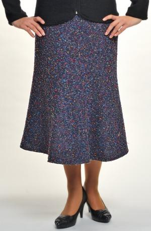 Dílová sukně z teplé tkaniny