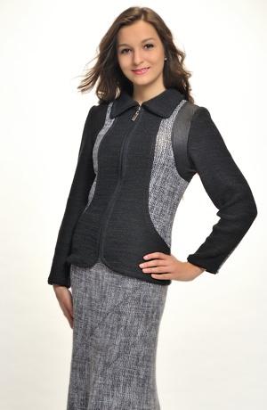 Dámský kombinovaný pletený kabátek