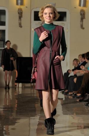 Šatová sukně z imitace kůže