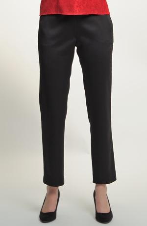 Kalhotový kostým v béžovo černé barvě - dvojkombinace