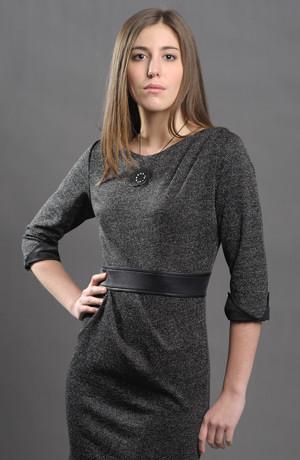 Dámské krátké pouzdrové šaty - tunika ke kalhotům.