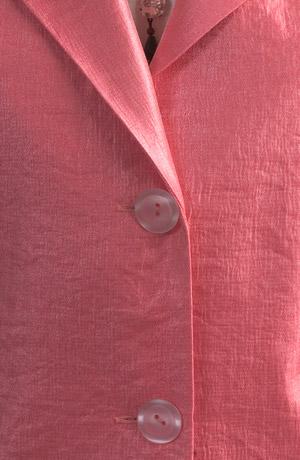 Sako s klopama z módního materiálu s kovovým leskem