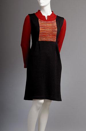 Pletená šatová sukně se sklady v pase pletená halenka - svetřík
