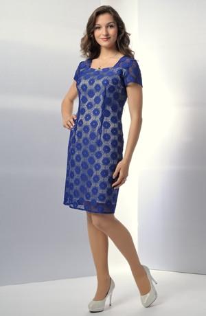 Koktejlové společenské šaty z elastické krajky
