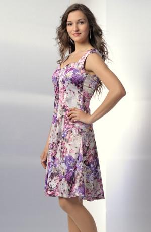Dámská letní šaty s módním květinovým vzorem