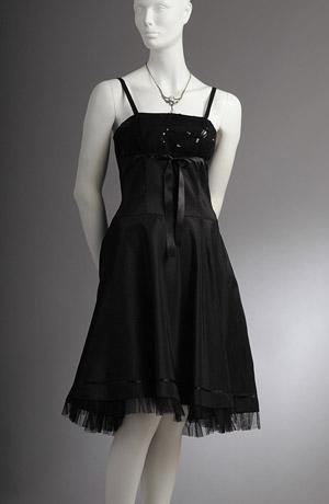 Černé šaty na ramínka vhodné i do tanečních,.