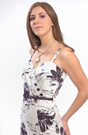 Ramínkové šaty s živůtkem na bok a s knoflíčky