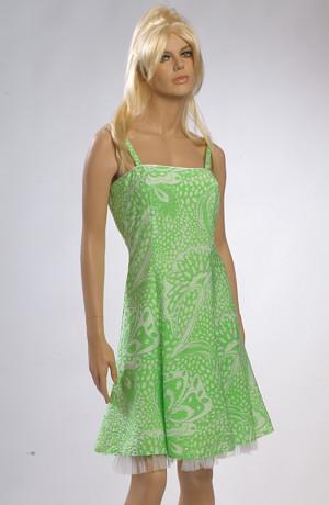 Šaty do tanečních krátké zelené