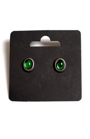 Náhrdelník s přívěškem ze zelených oválků