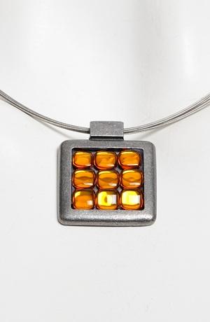 Náhrdelník na kovovém lanku šperk celokovový