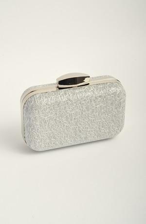 Stříbrná kabelka na ples