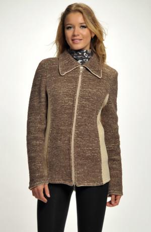 Pletený kabátek na zip