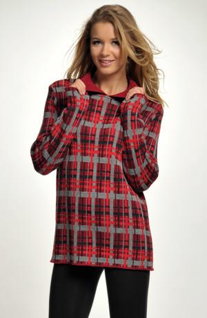 Ležérní pletený svetr v anglickém káru-sleva