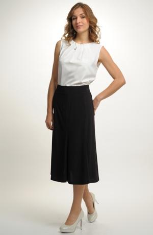 Černá společenská zvonková sukně