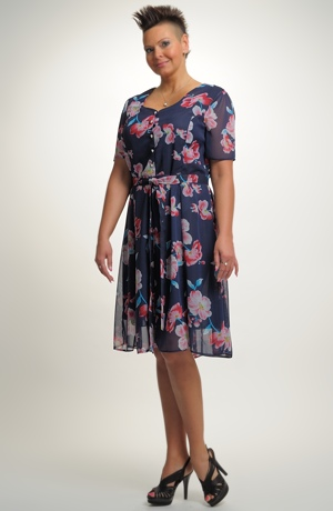 Dámské společenské krátké šaty ve vel. 46, 48, 50