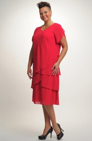 Luxusní dámské společenské šaty ze šifónu