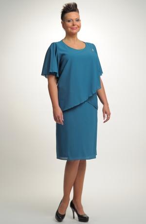 Dámské společenské šaty vhodné pro velké a nadměrné velikosti (XL, XXL, XXXL)