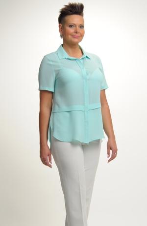 Dámská košile v mentolové barvě