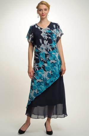 Dlouhé šifónové společenské šaty