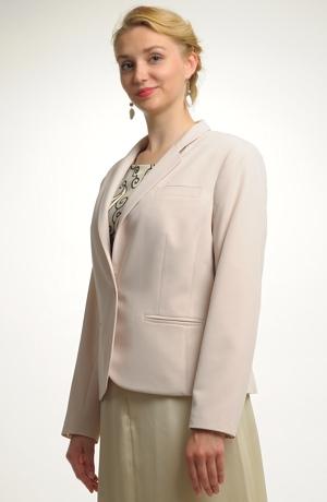 Sako s otevřenou fazónou vhodné na šaty