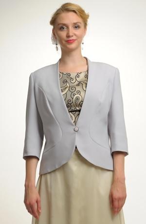 Sako v šedé barvě