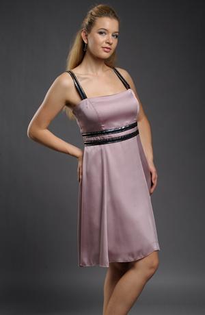 Kombinované šaty na ramínka vhodné i do tanečních