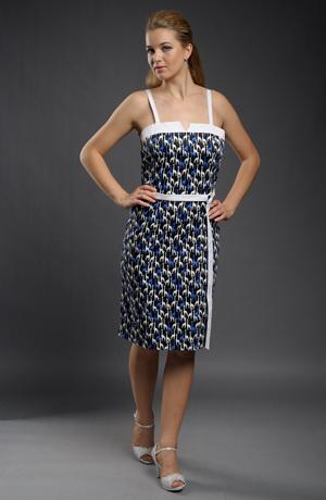 Pouzdrové šaty se vzorem žirafek