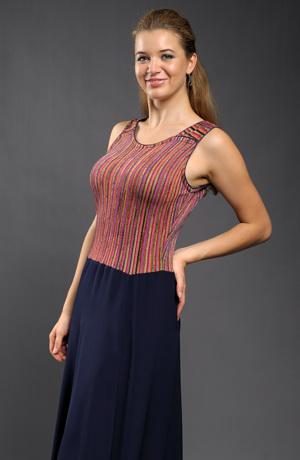 Dámské letní šaty s jemným viskózovým sedlem