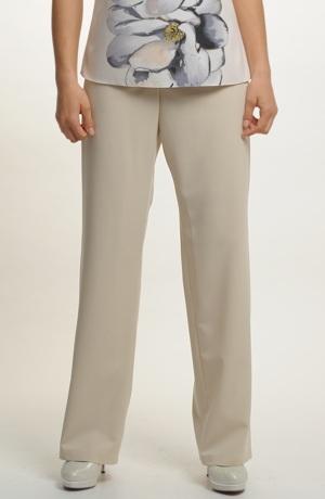 Béžový dámský kalhotový komplet