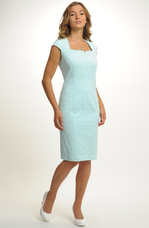 Dámské elastické pouzdrové šaty