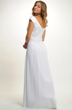 Dlouhé svatební šaty vel.46