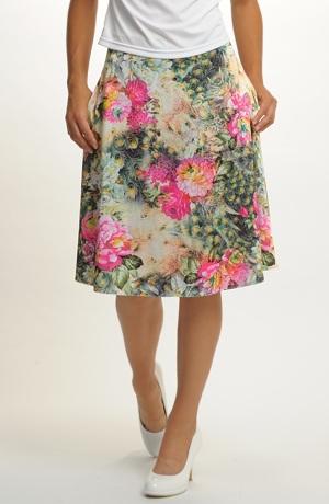 Letní sukně kytičky