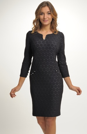 Elegantní malé černé koktejlové šaty