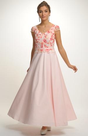 Dlouhé společenské šaty na ples i na svatbu. Vel. 36, 38