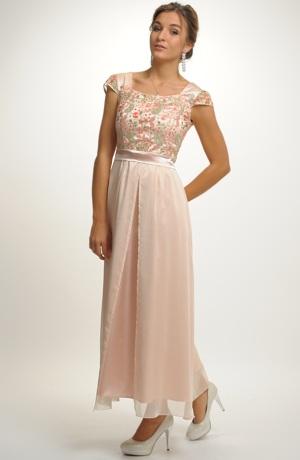 Dívčí společenské šaty z luxusního materiálu