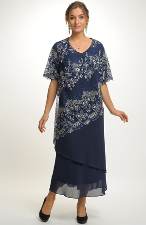 Dámské šaty pro plnoštíhlé