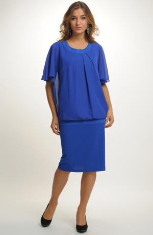 Pouzdrové šaty s tunikou