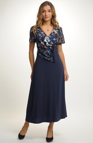 Dámské večerní šaty pro plnoštíhlé